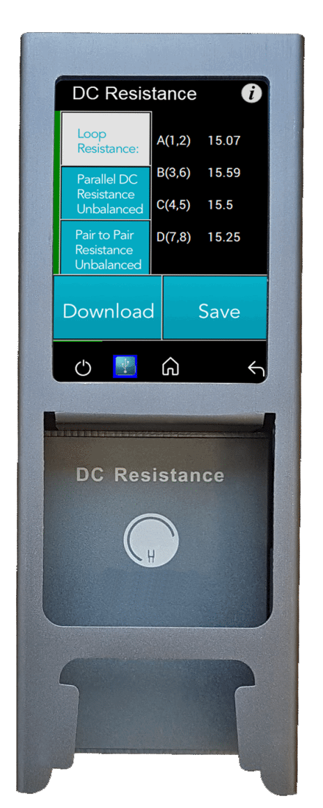DC Resistance Modules View